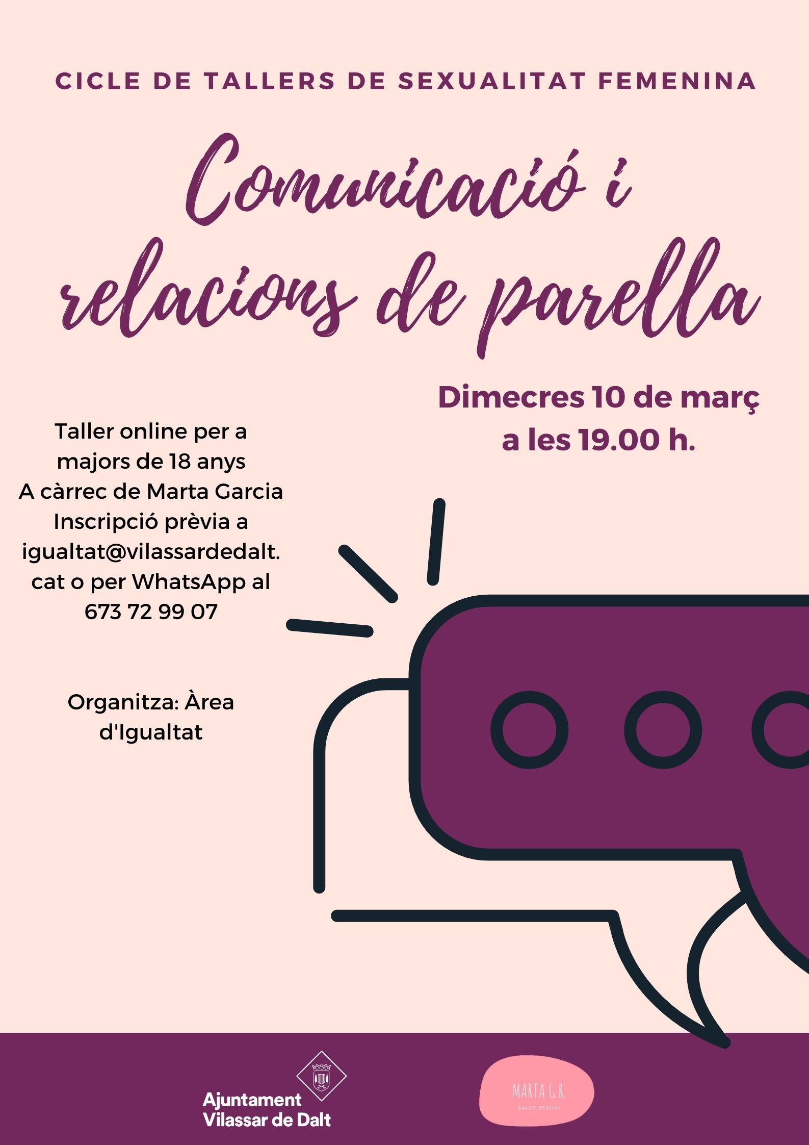 Taller de salut sexual femenina